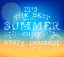 Genießen Sie das Sommerposter