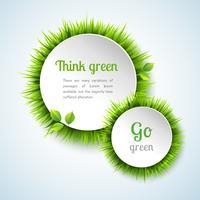 Gras-Doppelkreis-Rahmensatz