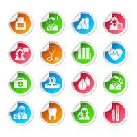 Medicinsk sjukvård ikon klistermärken vektor