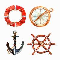 Aquarell nautische Set