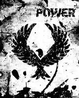 Adler schwarzes Plakat