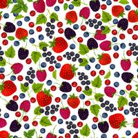 Nahtloses Muster der frischen Beeren vektor