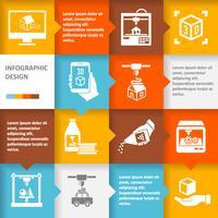 Drucker 3d Infografik vektor