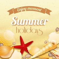 Sommarlov semester bakgrund vektor