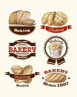 Bakverk och brödetiketter vektor