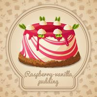 Raspberry vaniljpudding etikett