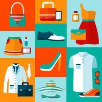 Shopping Mode Design-Elemente vektor
