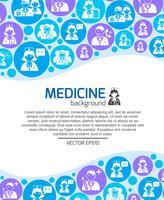 Sjukvård och medicin läkare bakgrund vektor