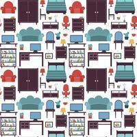 Möbler sömlösa mönster