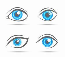 Augen Icons Cyber vektor