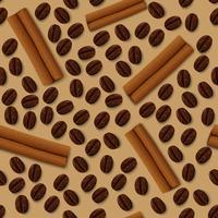 Kaffe och kanel sömlöst mönster