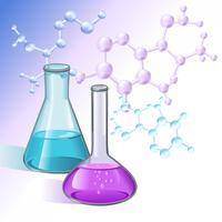 Reagenzgläser Wissenschaft Hintergrund