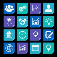 Geschäftsikonen eingestellt und Gestaltungselemente