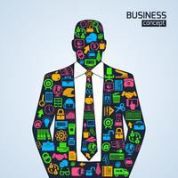 Business Konzept Symbole Person