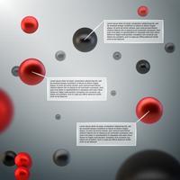 Abstrakt 3D-sfäriska infografiska vektor
