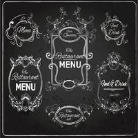 Restaurang etiketter tavlan vektor