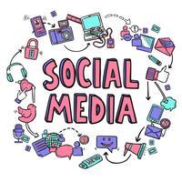sociala medier designkoncept vektor