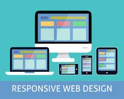 Responsivt webbdesignkoncept
