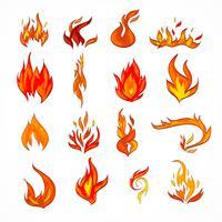 Feuer icon skizze vektor