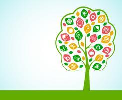 Baum des Wissenskonzeptes vektor