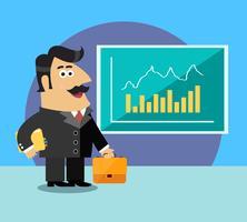 Företagsliv aktieägare vektor