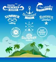 Sommer-Elementbezeichnung vektor