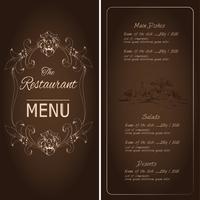 Restaurangmenymall