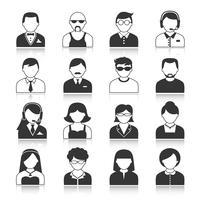 Inställningar för ikoner för Avatartecken vektor