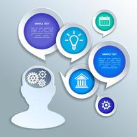 Papiergeschäft Infografiken Gestaltungselemente