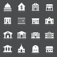 Regierungsgebäude Icons vektor