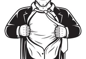Comic-Held Eröffnung Shirt vektor