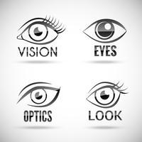 Ställ in ögon ikoner