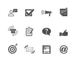 Feedback-Web-Icons gesetzt vektor
