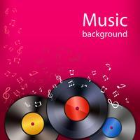 Vinyl Musik Hintergrund vektor
