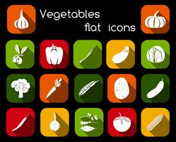 Grönsaker platt ikoner