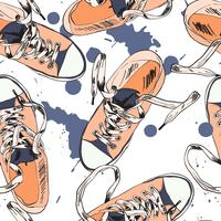 Gumshoes sömlös mönster