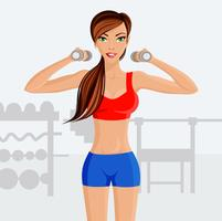 Ung sexig kvinna fitness