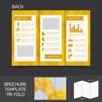 Broschüre Vorlage dreifach gefaltet vektor