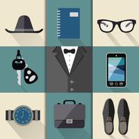 Gentleman kostym set vektor