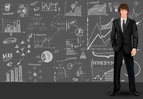 Geschäftsmann-Skizzenhintergrund vektor