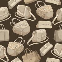 Retro- Muster der nahtlosen Frau der stilvollen Taschen vektor