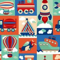 Transport Spielzeug nahtlose Muster