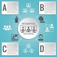 Geschäftsleute, die Infografiken treffen