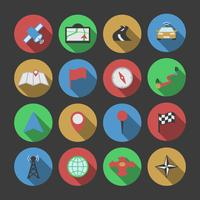 Navigations ikonuppsättning vektor