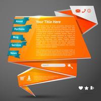 Origami-Website-Vorlage vektor
