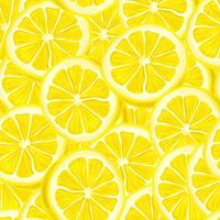 Geschnittener nahtloser Hintergrund der Zitrone vektor