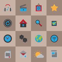 Mobile Social Media-Symbole