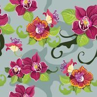 Nahtloses tropisches Blumenmuster? vektor