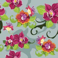 Seamless tropisk blommönster? vektor