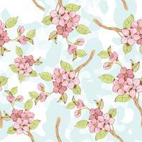 Sakura filial sömlös mönster? vektor